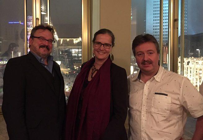 Pier Meier, Frank Anstatt und Petra Elias in der Oper Leipzig