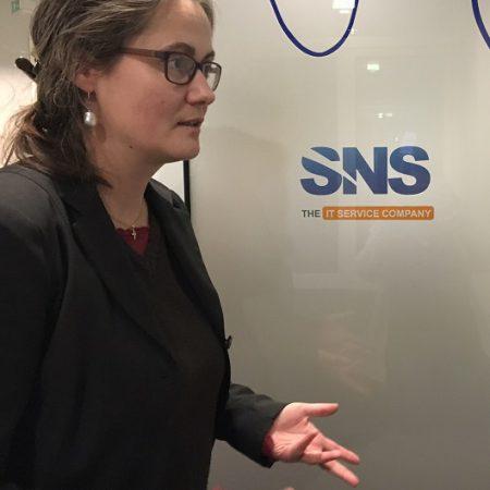 Vorsitzende Petra Elias zu Besuch bei der Saxonia Network Systems GmbH