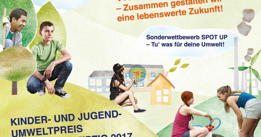Umweltweltwettbewerb 2017-Plakat der Stadt Leipzig