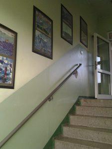 Treppenhaus der Paul-Robeson mit Nostalgie-Flair