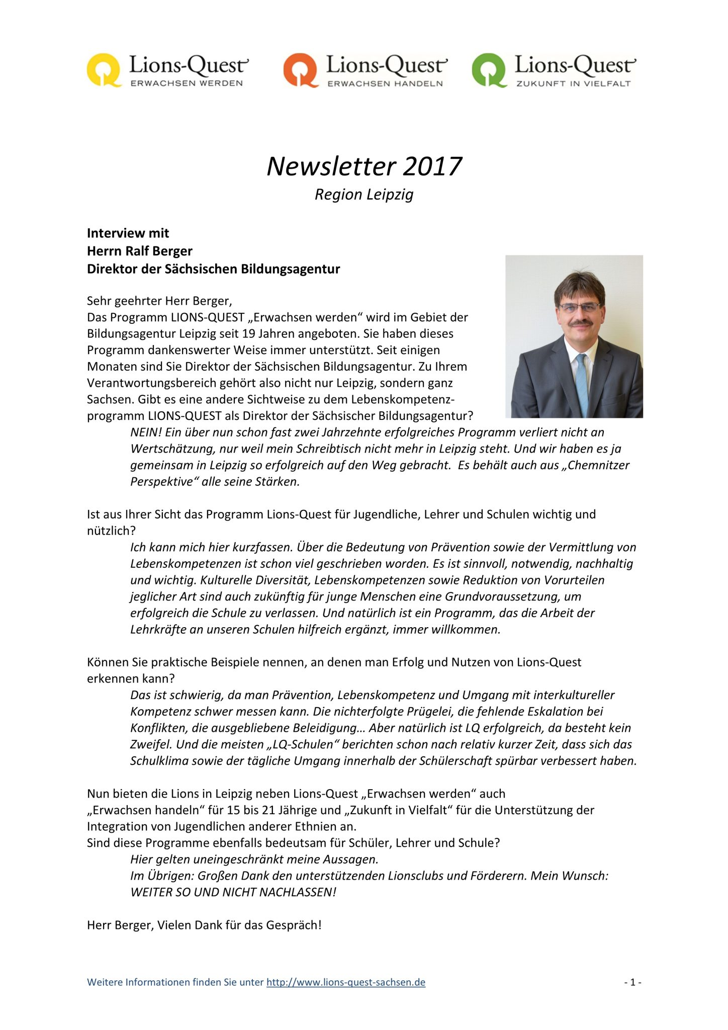 Interview mit Ralf Berger