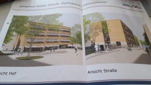 Ansicht zum Erweiterungsbau Kepler Gymnasium