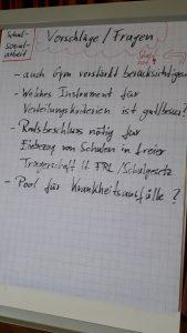Vorschläge und Fragen aus der Runde: Schulsozialarbeit 14.04.2018