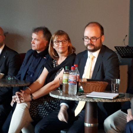 Mitglieder des sächsischen Landtages stellen sich der Diskussion, Andreas Nowak, Cornelia Plattner, Robert Clemen